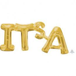 """Μπαλόνι φράση """"It's A"""" χρυσό"""