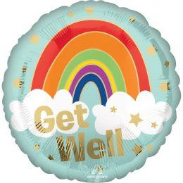 """Μπαλόνι για Περαστικά """"Get Well"""" Ουράνιο Τόξο"""