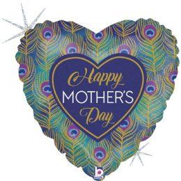 Μπαλόνι Happy Mother's Day παγώνι