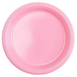 Πιάτα φαγητού Ροζ (20 τεμ)