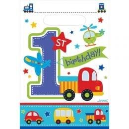 Σακουλάκια για δωράκια 1st Birthday Boy (8 τεμ)
