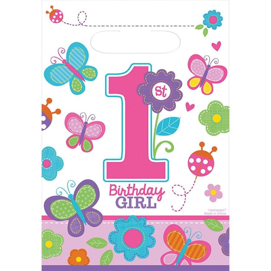 Σακουλάκια για δωράκια 1st Birthday Girl (8 τεμ)