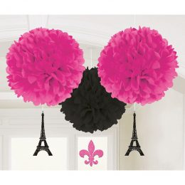 Σετ Fluffy Pom Pom Παρίσι (3 τεμ)