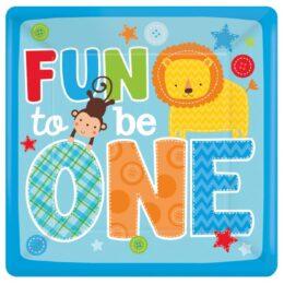 """Τετράγωνα πιάτα φαγητού """"Fun to be One"""" (8 τεμ)"""