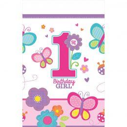 Τραπεζομάντηλο πλαστικό 1rst Birthday Girl