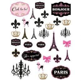 Χάρτινες Κοπτικές Φιγούρες Παρίσι (30 τεμ)