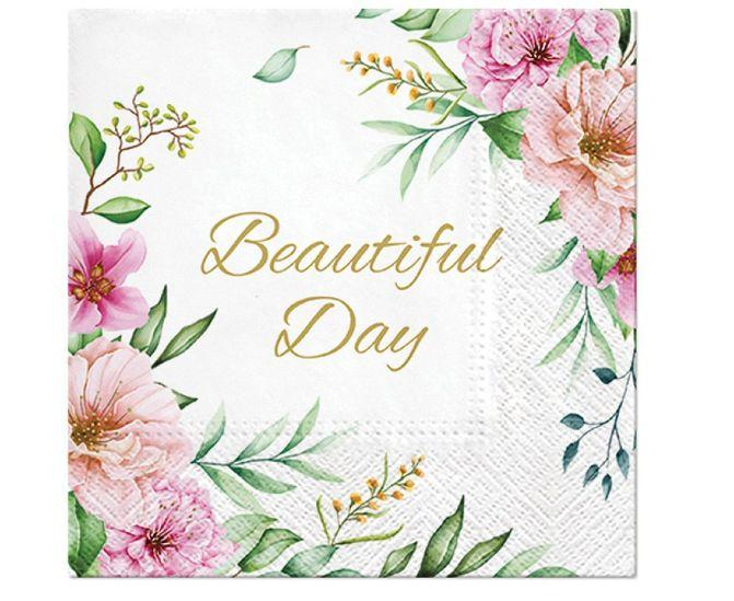 Χαρτοπετσέτες Beautiful Day Λουλούδια (20 τεμ)
