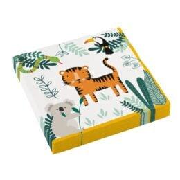 Χαρτοπετσέτες Ζώα Ζούγκλας Get Wild (16 τεμ)