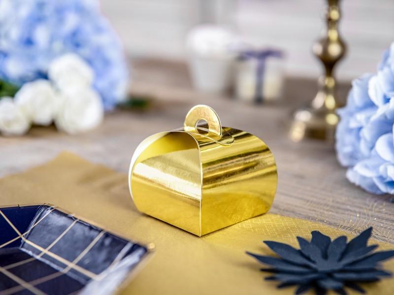 Χρυσό κουτάκι για μπομπονιέρα (10 τεμ)