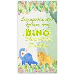 Αφίσα Βάπτισης Δεινοσαυράκια