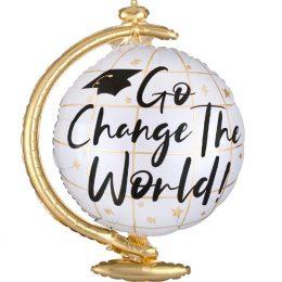 """Μπαλόνι Αποφοίτησης Υδρόγειος Σφαίρα """"Change the World"""""""