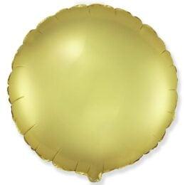 """Μπαλόνι Χρυσό Στρογγυλό Σατέν 18"""""""