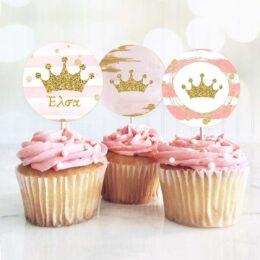 Topper Cupcake Κορώνα κορίτσι (6 τεμ)