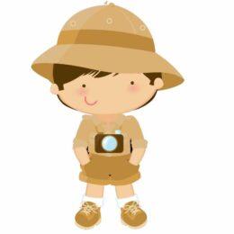Διακοσμητική ξύλινη φιγούρα Safari Boy