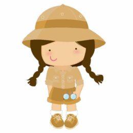 Διακοσμητική ξύλινη φιγούρα Safari Girl