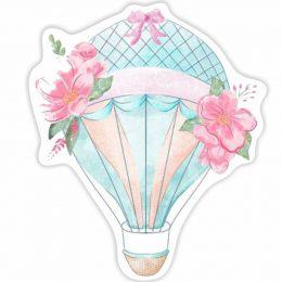Διακοσμητική ξύλινη φιγούρα Αερόστατο Φλοράλ