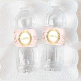 Ετικέτες για μπουκάλια νερού Πριγκίπισσα & Μονόκερος (8 τεμ)