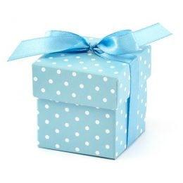 Γαλάζιο Κουτάκι με πουά (10 τεμ)