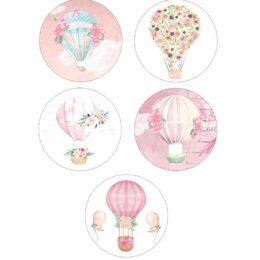 Κονκάρδες Φλοράλ Αερόστατο