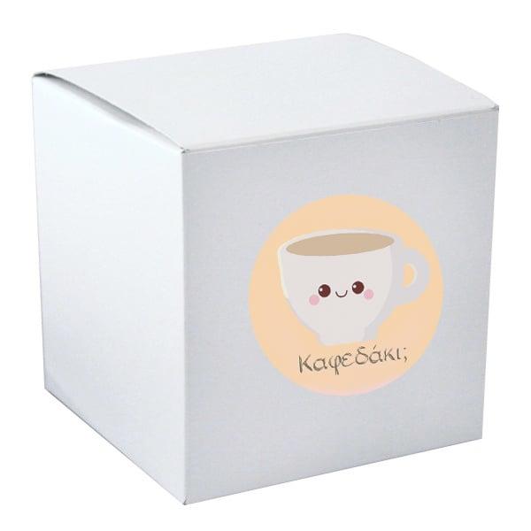 Κουτί συσκευασίας για κούπα με αυτοκόλλητο