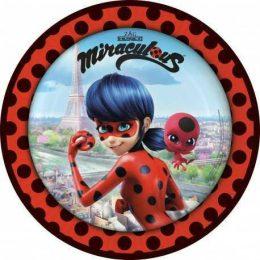 Πιάτα φαγητού Miraculous Ladybug (8 τεμ)