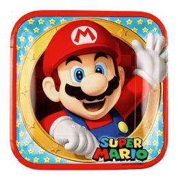 Πιάτα φαγητού Super Mario (8 τεμ)