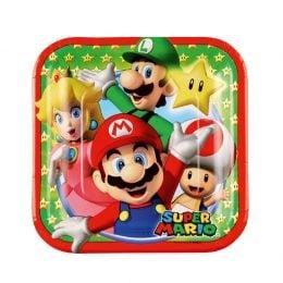 Πιάτα γλυκού Super Mario (8 τεμ)