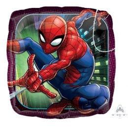 Τετράγωνο μπαλόνι Spiderman Animated