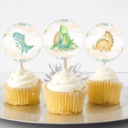 Topper Cupcake Δεινόσαυροι (6 τεμ)