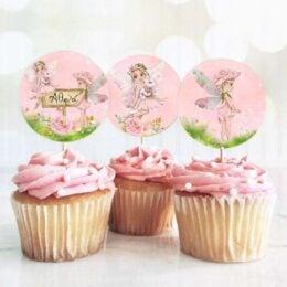 Topper Cupcake Νεράιδες (6 τεμ)