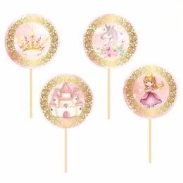 Topper Cupcake Πριγκίπισσα (8 τεμ)