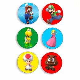 Ξύλινες Κονκάρδες Super Mario (6 τεμ)