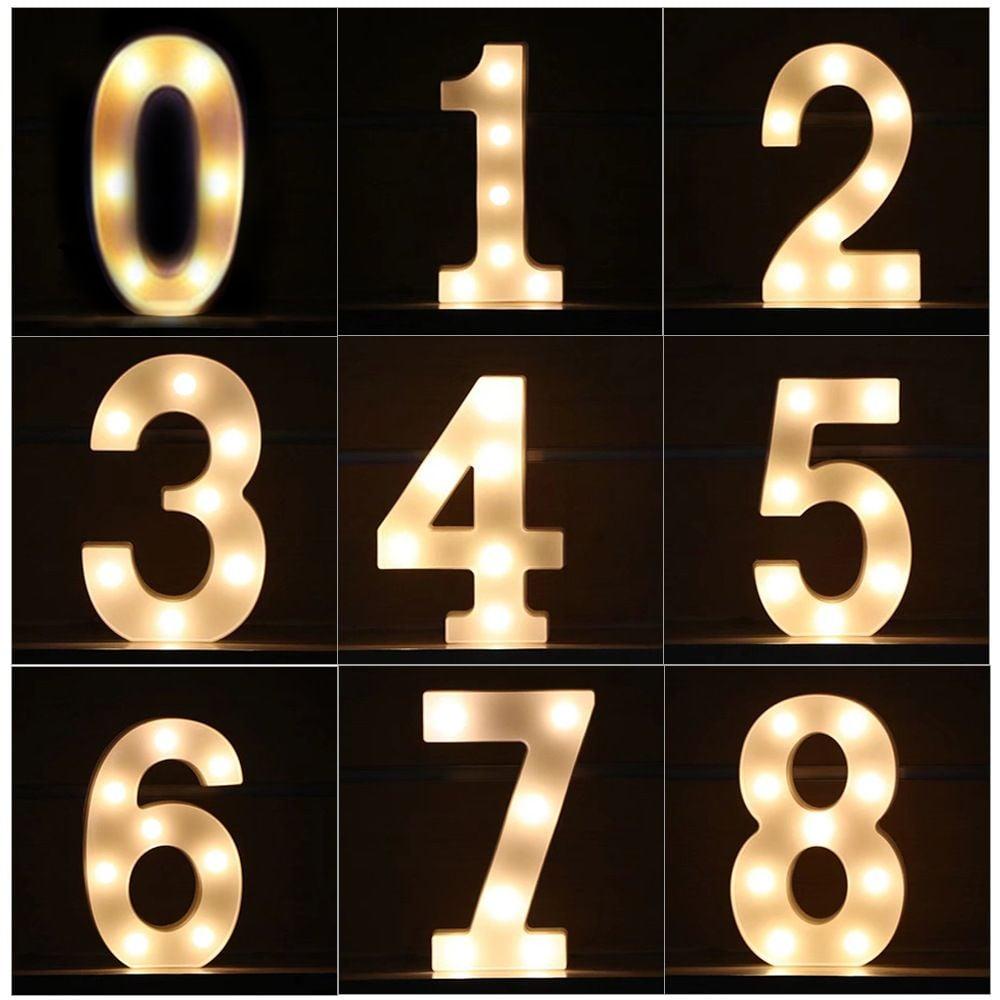 Αριθμός με LED φως