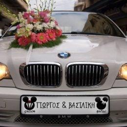"""Πινακίδα αυτοκινήτου γάμου """"Mickey - Minnie"""""""