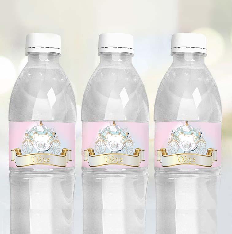 Ετικέτες για μπουκάλια νερού Σταχτοπούτα