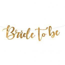 Γιρλάντα χρυσή Bride to Be