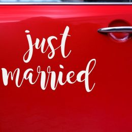 Just Married Αυτοκόλλητο