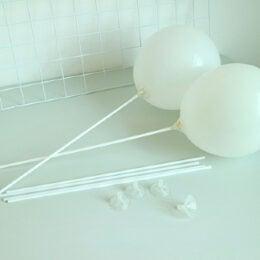 Καλαμάκι με διάφανο καπάκι για Μπαλόνια