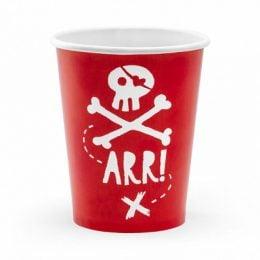 Κόκκινα Ποτήρια πάρτυ Πειρατές (6 τεμ)