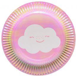 Πιάτα γλυκού Ουράνιο Τόξο & Σύννεφο (8 τεμ)