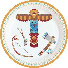 Πιάτα πάρτυ Ινδιάνοι (8 τεμ)
