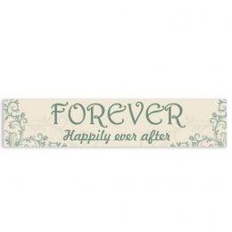 """Πινακίδα αυτοκινήτου γάμου """"Happily Ever After"""""""