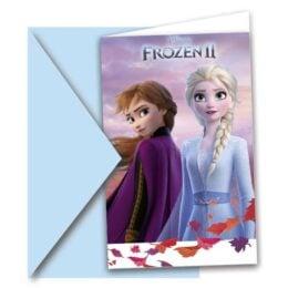 Προσκλήσεις πάρτυ με Φάκελο Frozen II (6 τεμ)