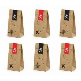 Σακουλάκια δώρων Πειρατές (6 τεμ)