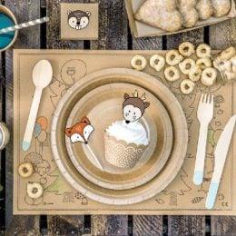 Σετ για cupcake Ζώα Δάσους Woodland (6 τεμ)