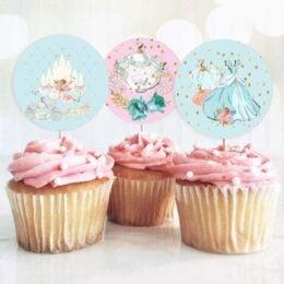 Topper Cupcake Σταχτοπούτα (6 τεμ)