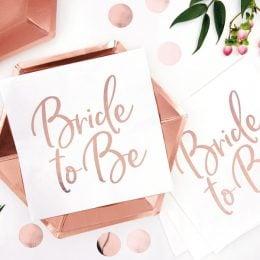 Χαρτοπετσέτες Bride to Be (20 τεμ)