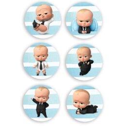Ξύλινες Κονκάρδες Baby Boss (6 τεμ)