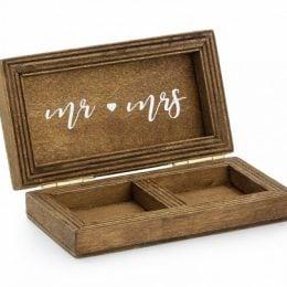 Ξύλινο κουτί για Βέρες γάμου