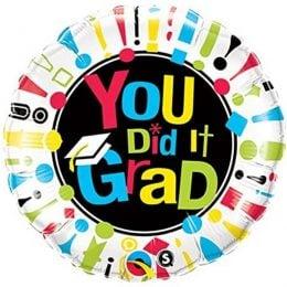 """Μπαλόνι Αποφοίτησης """"You Did It Grad"""""""